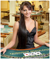 Casino Live Blackjack Dealer
