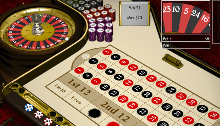 Das Roulette Rad bei Mansion Casino